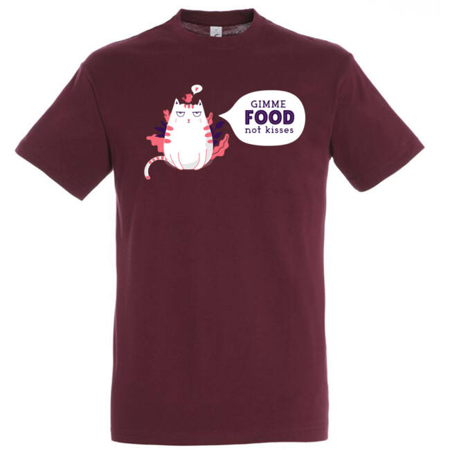 Gimme food not kisses póló több színben
