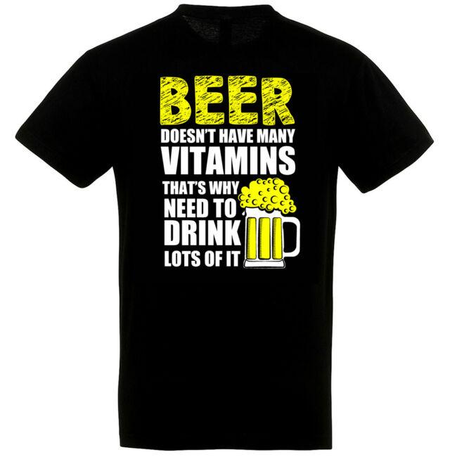 Beer Doesn't have many vitamins póló több színben