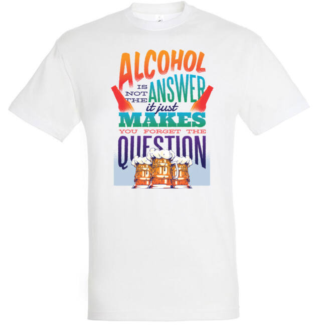 Alcohol answer póló több színben