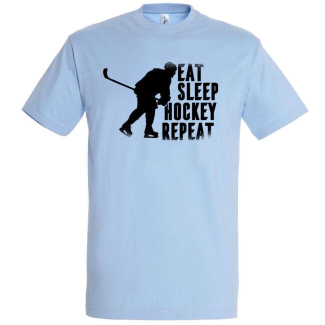 Eat sleep hockey repeat póló több színben