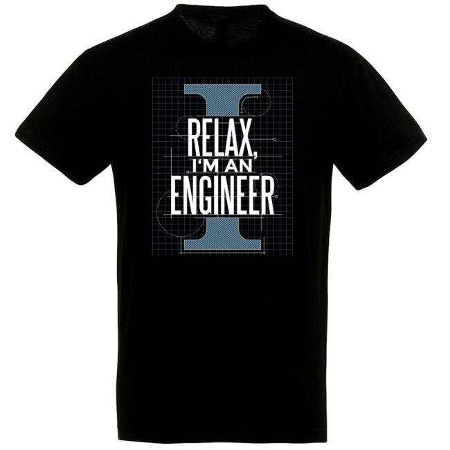 Relax I'm an engineer póló több színben