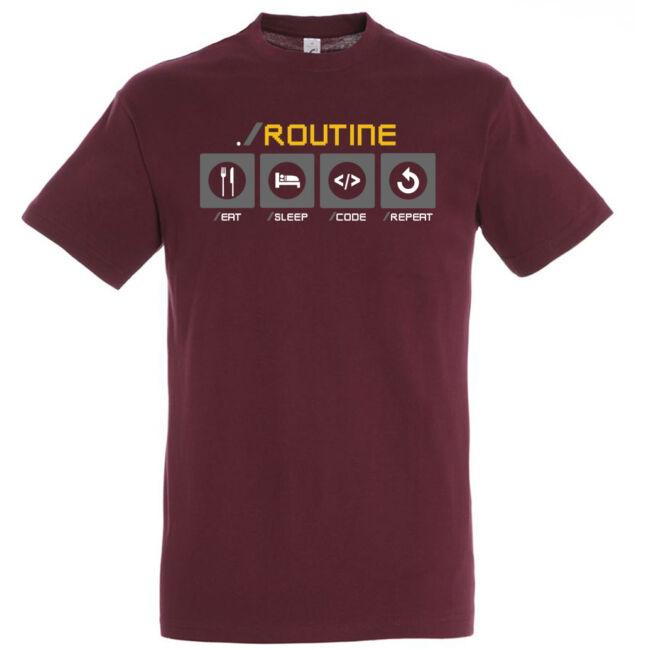 Fejlesztő rutin póló több színben