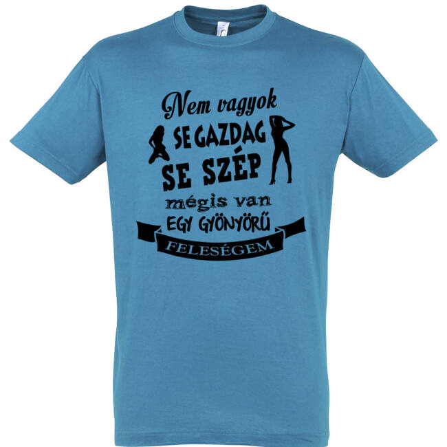 A szerény férjek pólója aqua