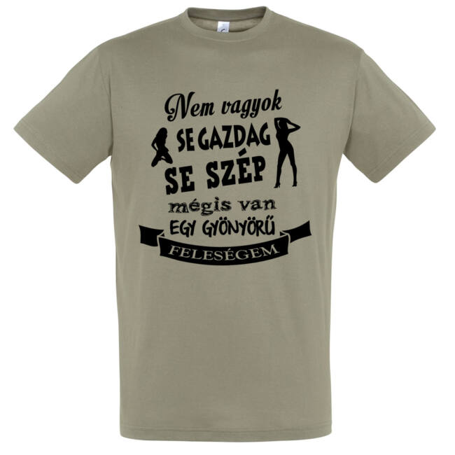 A szerény férjek pólója khaki