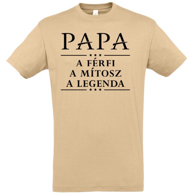 Papa a legenda póló, homok