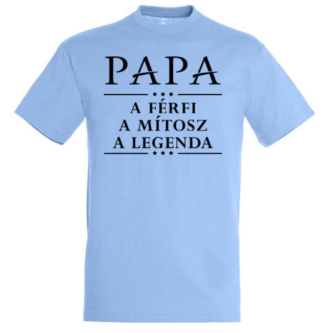 Papa a legenda póló, sky blue