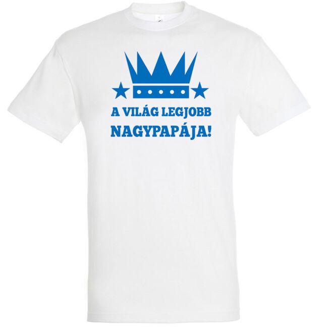 A világ legjobb nagypapája! feliratos póló a férfi nagyszülők egyik leges-legjobb ajándéka.