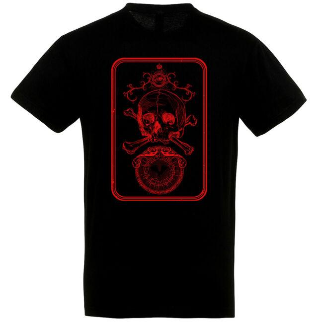 Card Skull fekete póló