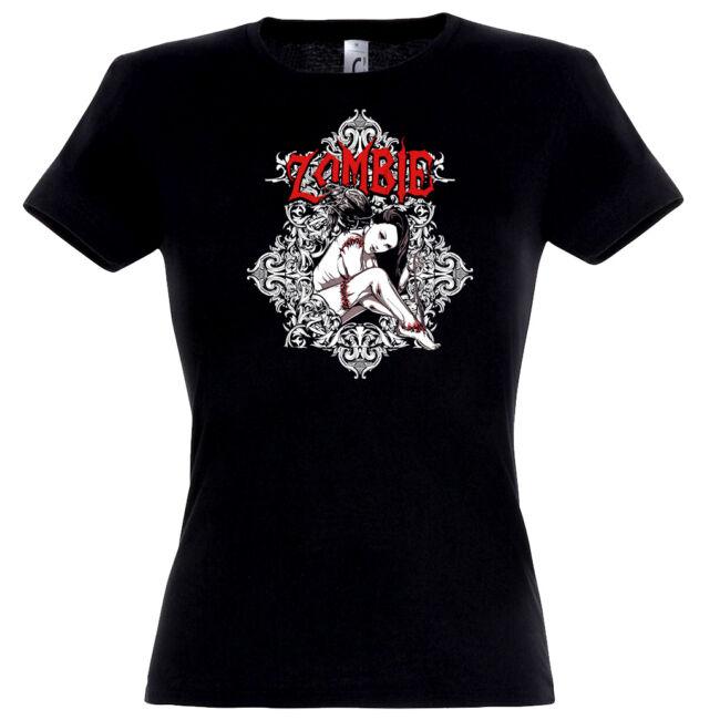 Zombie Girl fekete női póló