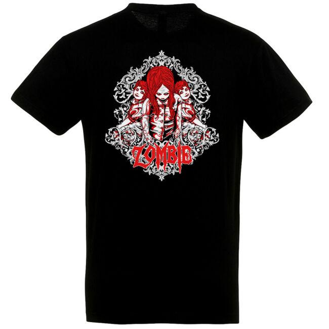 Zombie Kids fekete póló