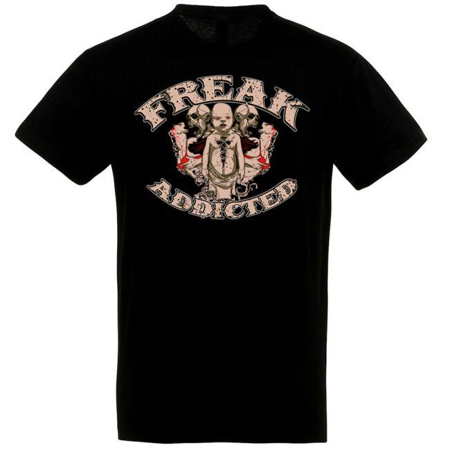 Horror mintás fekete póló Halloweenre.