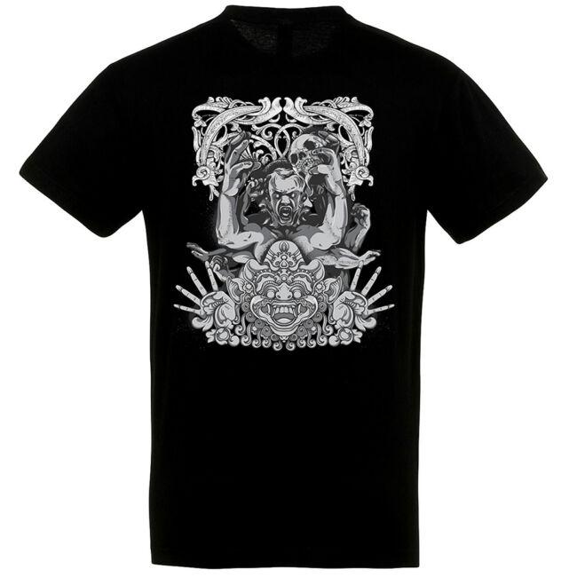 Mayan Demon fekete póló