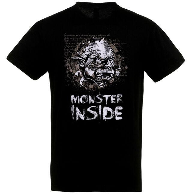 Monster Inside fekete póló