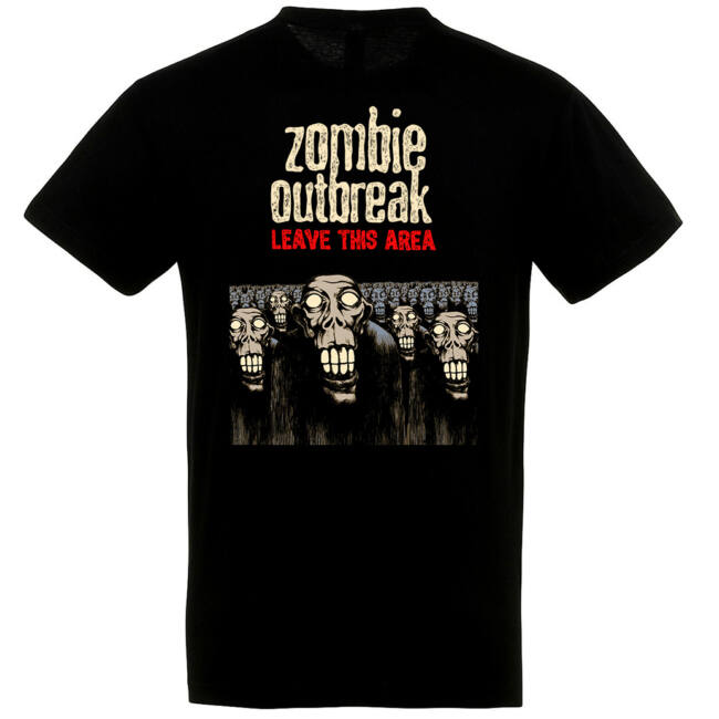 Zombie Outbreak fekete póló