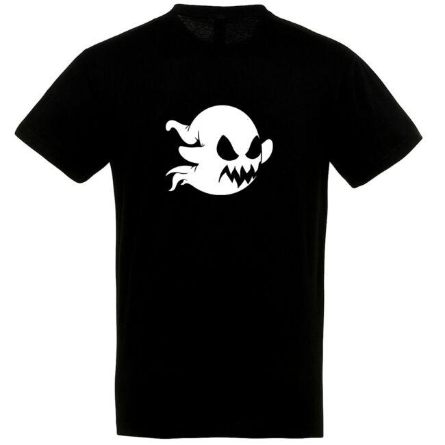 Szellem mintás Halloween póló fekete