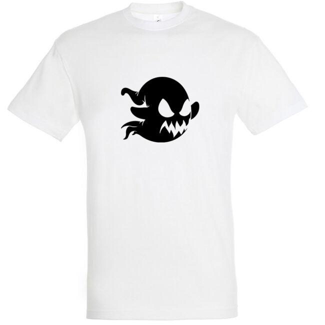 Szellem mintás Halloween póló fehér