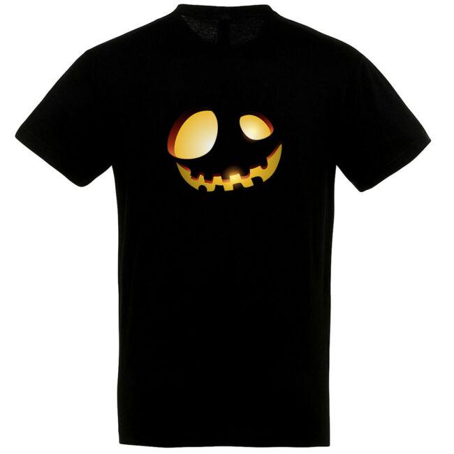 Töklámpás mintás Halloween póló fekete