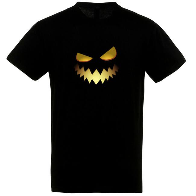 Töklámpás mintás Halloween póló fekete II