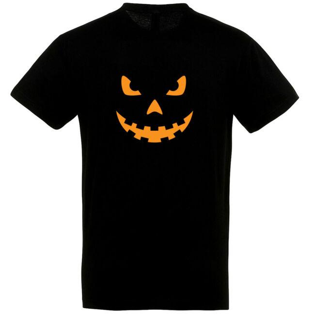 Töklámpás mintás Halloween póló fekete III