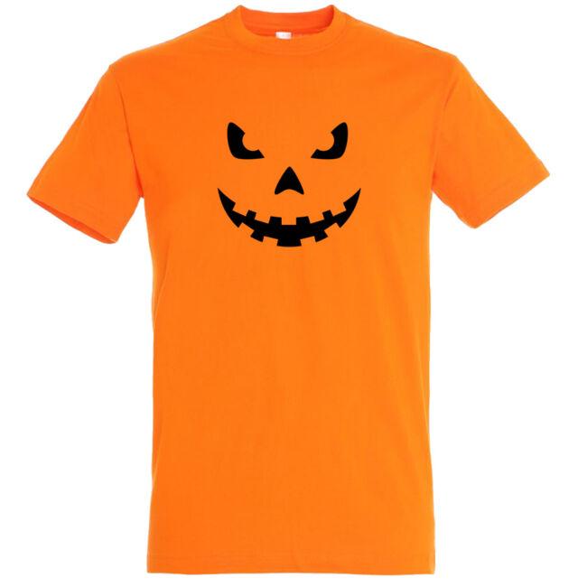 Töklámpás mintás Halloween póló narancssárga színben, 100% pamutból, kiváló nyomattal!