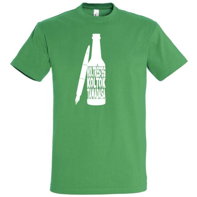 Holtrészeg logó férfi póló kelly green