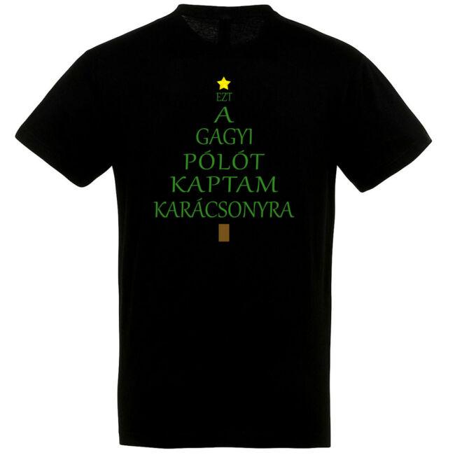 Ezt a gagyi pólót kaptam karácsonyra fekete színben