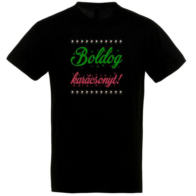 Boldog karácsonyt! póló fekete színben