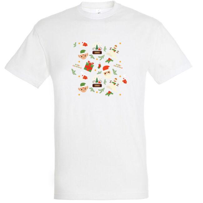 Manós karácsonyi póló fehér