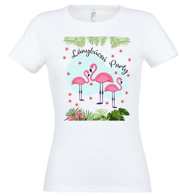 Flamingó lánybúcsú party póló