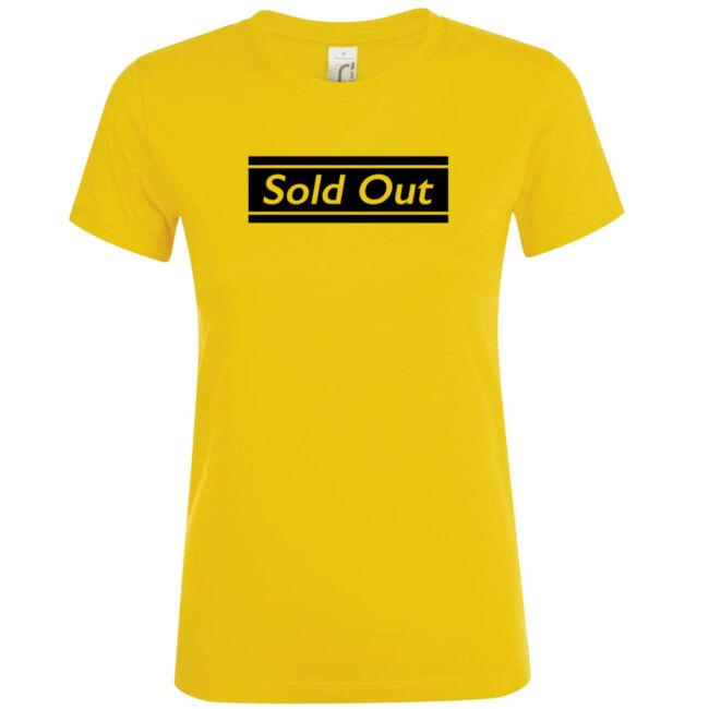 Sold Out póló lánybúcsúra arany