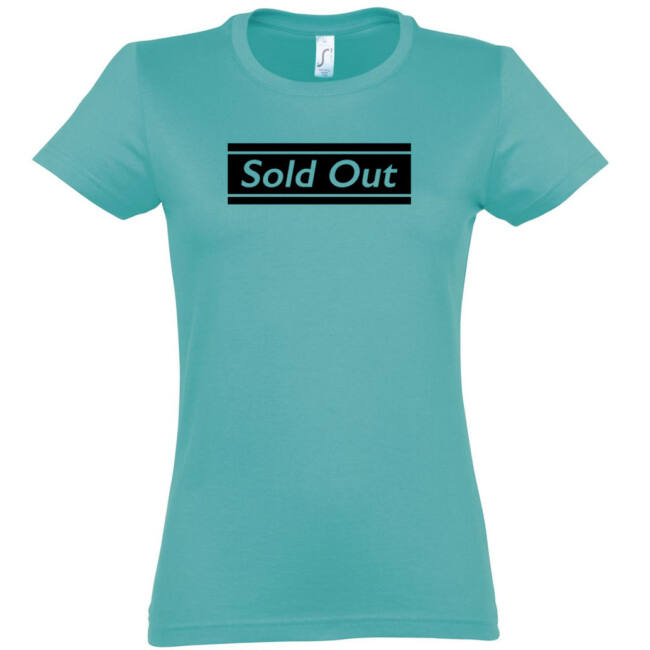 Sold Out póló lánybúcsúra carribean blue