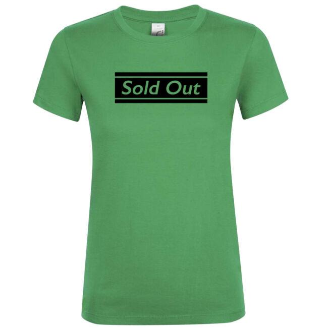 Sold Out póló lánybúcsúra kelly green