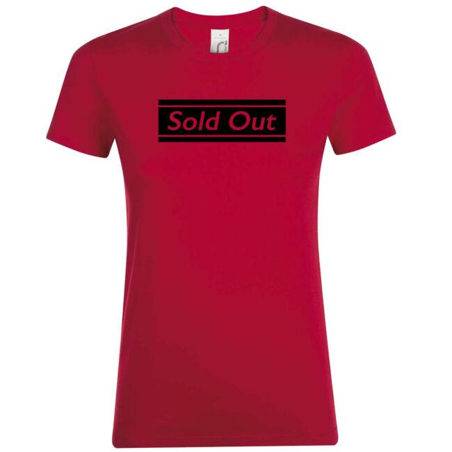 Sold Out póló lánybúcsúra piros