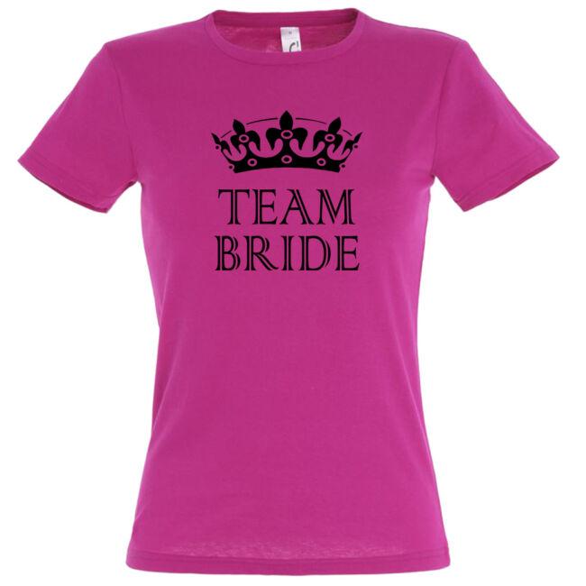 Team Bride póló lánybúcsúra fuchsia