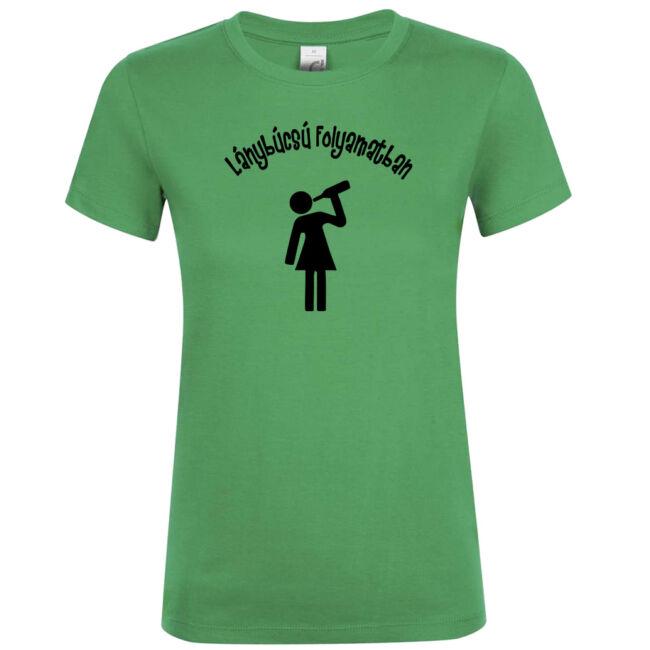 Ivós lánybúcsú folyamatban póló kelly green