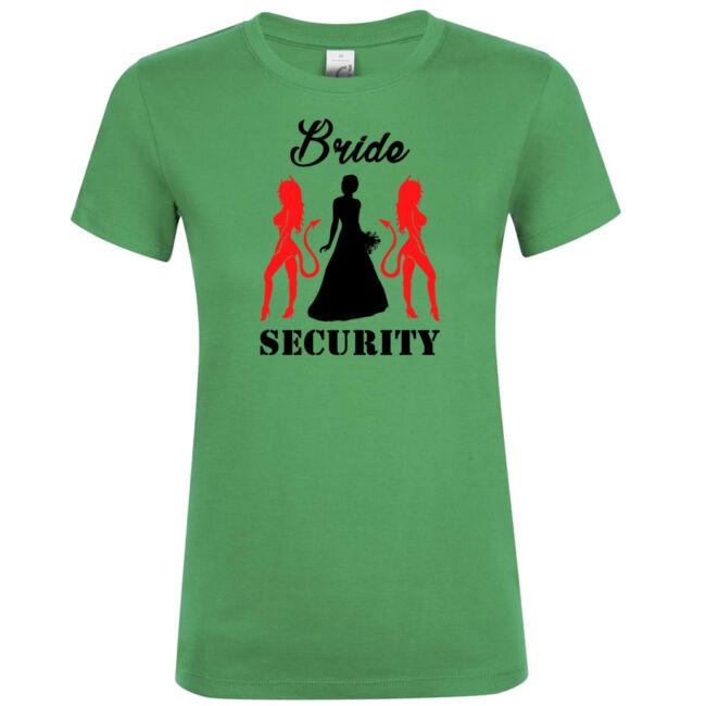 Bride Security póló lánybúcsúra kelly green színben