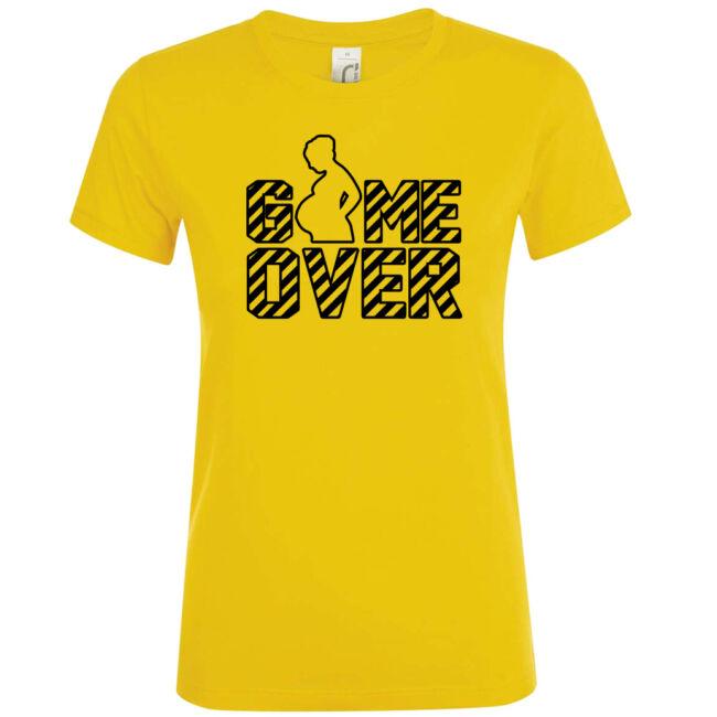 Game Over II. lánybúcsú póló arany színben
