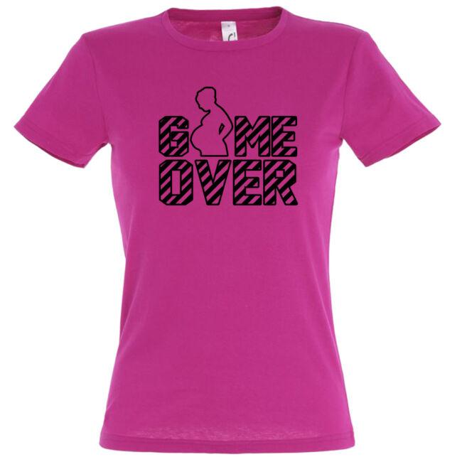 Game Over II. lánybúcsú póló, fuchsia színben