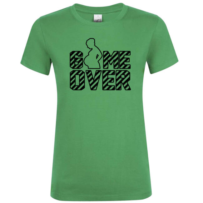 Game Over II. lánybúcsú póló kelly green