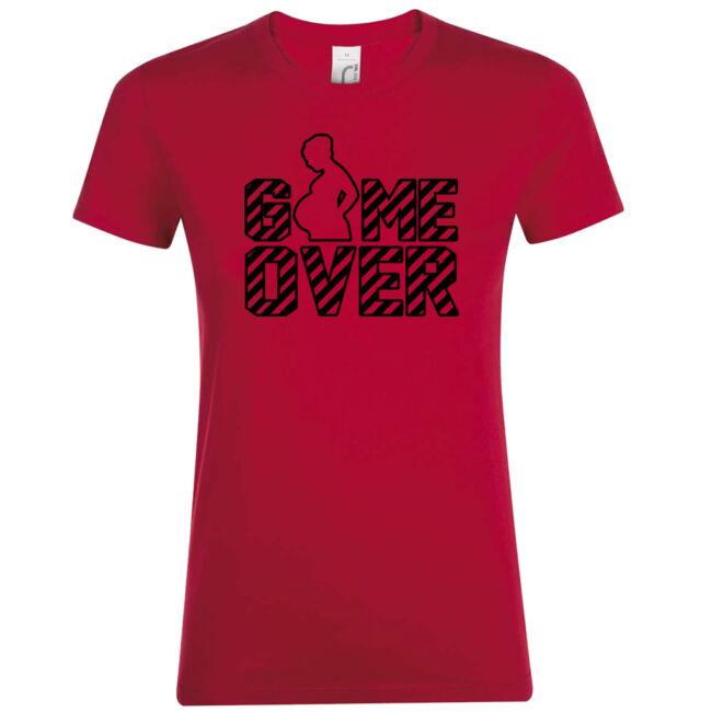 Game Over II. lánybúcsú póló piros