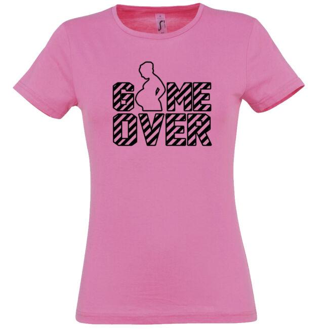 Game Over II. lánybúcsú póló, rózsaszín színben
