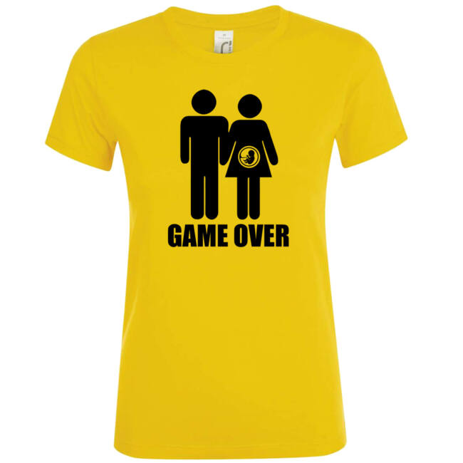 Game Over III. lánybúcsú póló arany