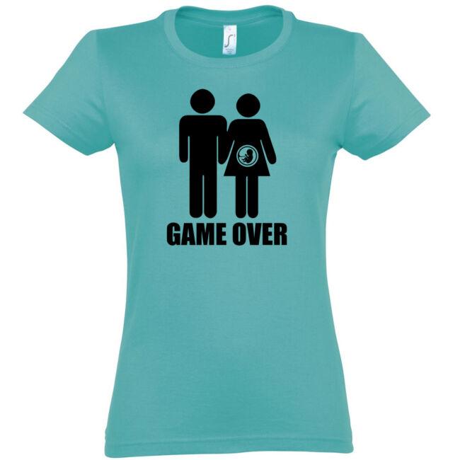 Game Over III. lánybúcsú póló carribean blue