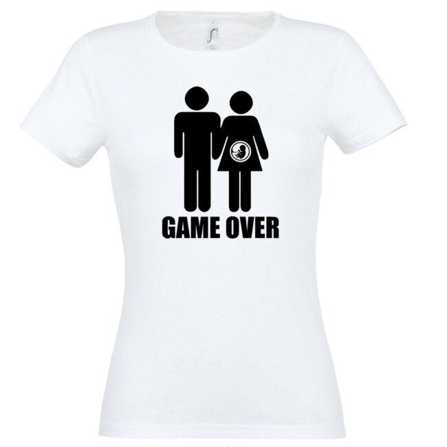 Game Over III. lánybúcsú póló fehér