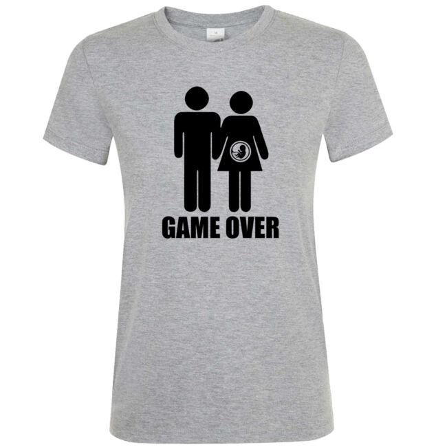 Game Over III. lánybúcsú póló grey melange