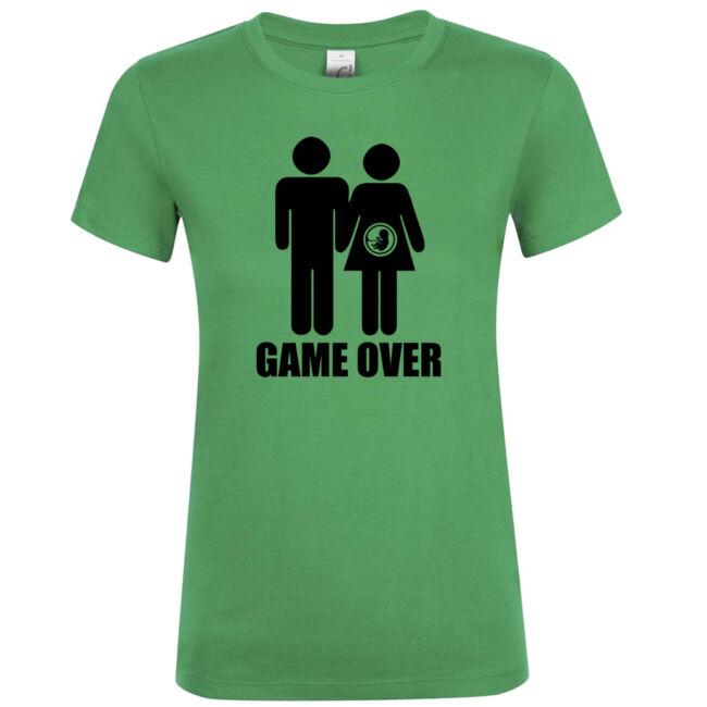 Game Over III. lánybúcsú póló kelly green