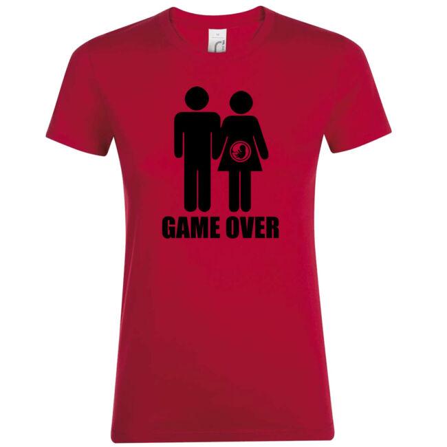 Game Over III. lánybúcsú póló piros
