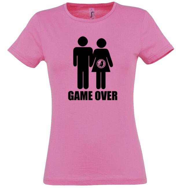 Game Over III. lánybúcsú póló rózsaszín