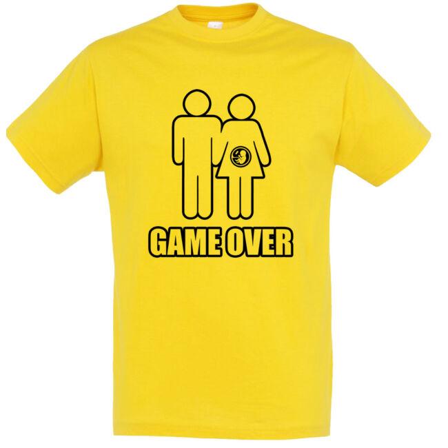 Game Over III. legénybúcsú póló arany