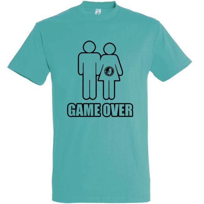 Game Over III. legénybúcsú póló carribean blue